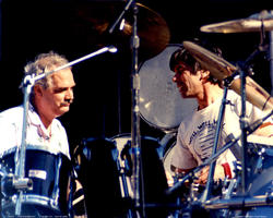 Bill Kreutzman, Mickey Hart - April 30, 1988 - Palo Alto, CA