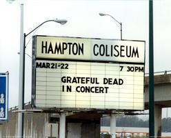 Hampton Coliseum Marquee - March 22, 1985
