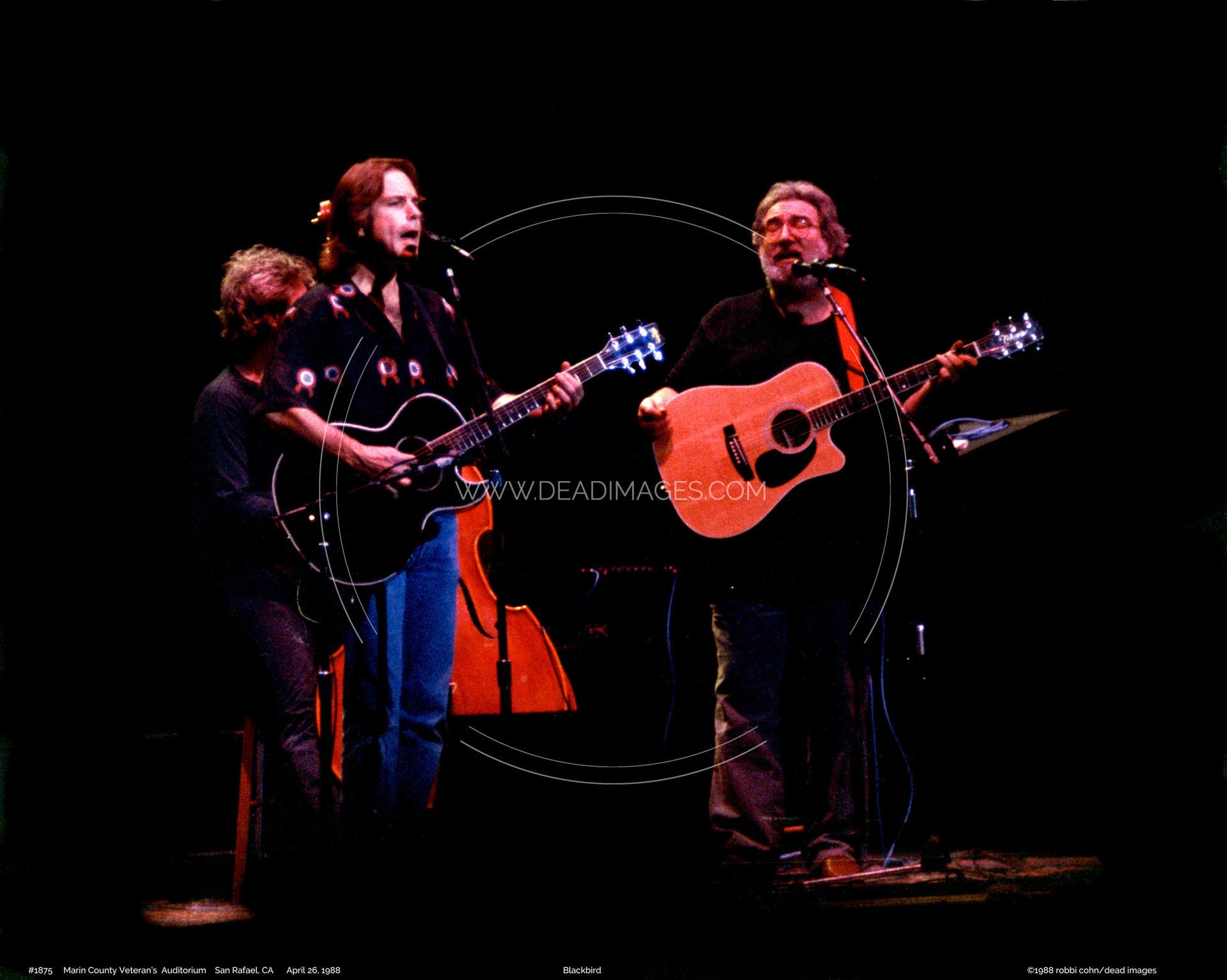 Jerry Garcia Bob Weir April 26 1988 San Rafael Ca